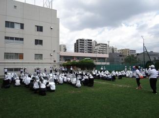 小中高合同避難訓練が実施されました。