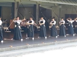 高校弓道部(女子)が東京都総合体育大会(全国総体東京都予選)に出場しました