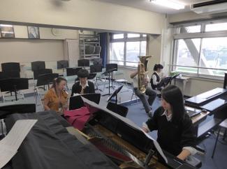 高2音楽コース 器楽・声楽の授業