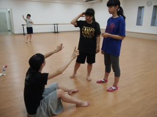 ダンス部も練習中!