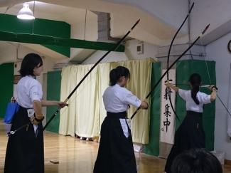 弓道部が東京都個人選手権大会と9支部大会に出場しました。